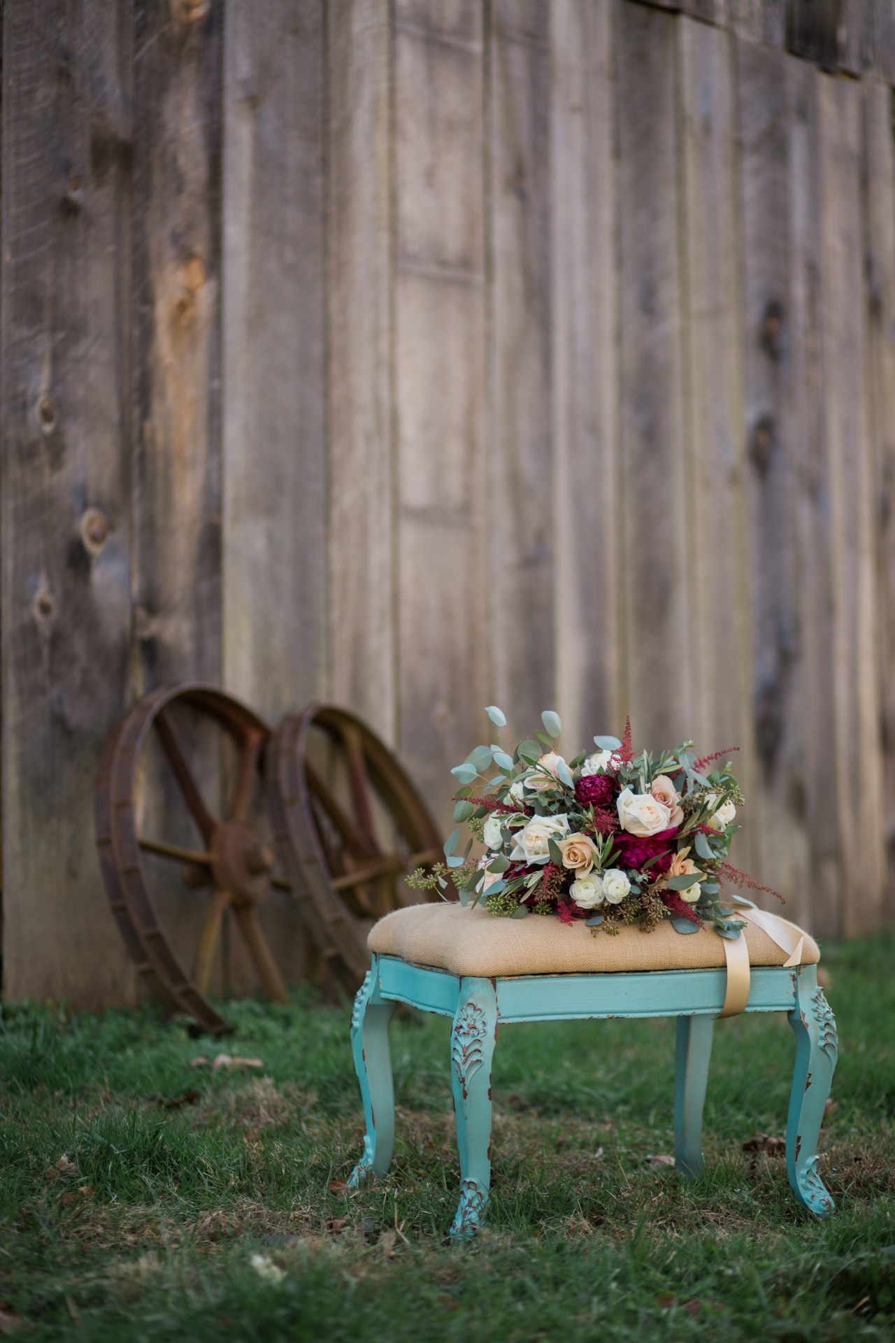 bridal bouquet by vintage barn