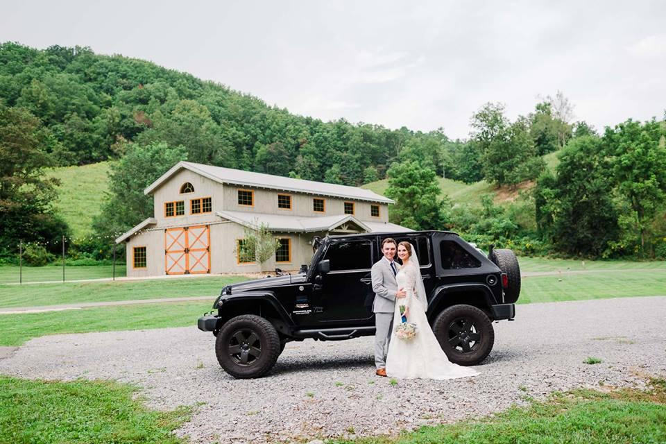 couple with jeep